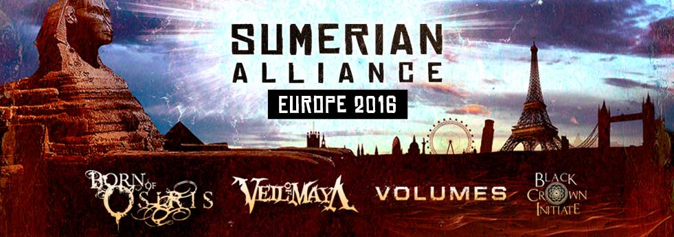 Veil Of Maya, Volumes, bien Of Osiris , black crown initiate
